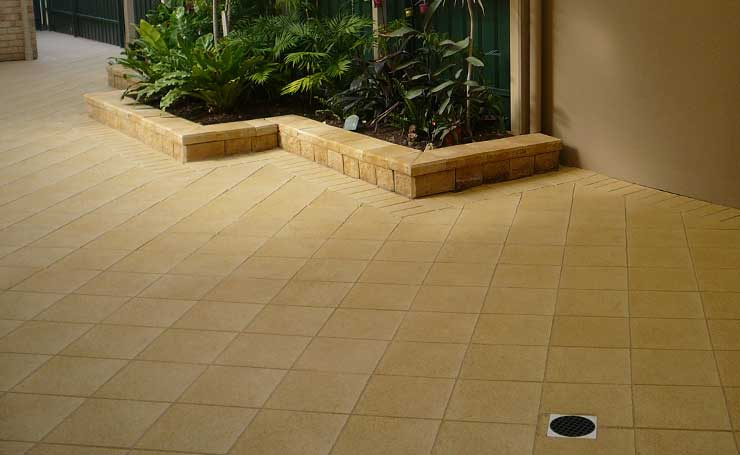 Verandah pavers adelaide with verandah paving pattern ideas for Paving and landscaping adelaide