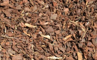 There are many colours and sizes of bark chip to choose from