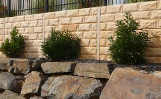 Concrete Sleeper Retaining Wall (Cove)