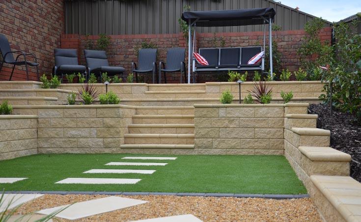 Semi formal low maintenance landscaping wynn vale for Semi formal garden designs