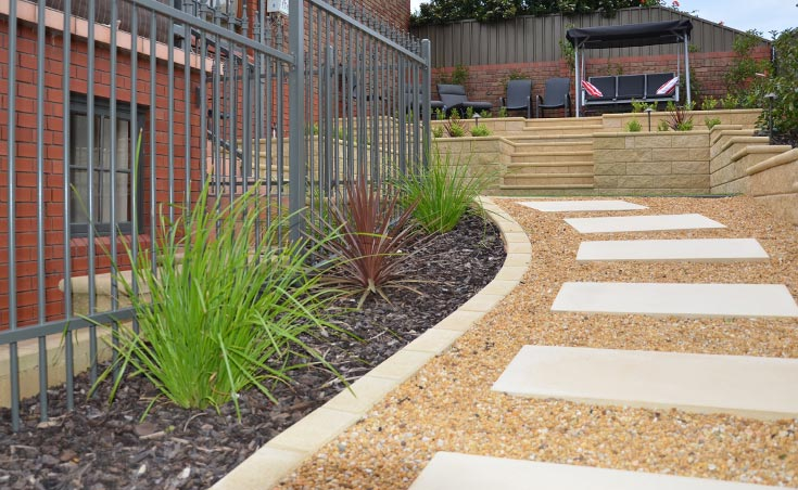 Semi formal low maintenance landscaping wynn vale for Paving and landscaping adelaide
