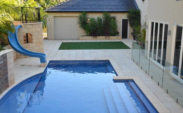 Complete back garden landscape design salisbury heights sa for Paving and landscaping adelaide