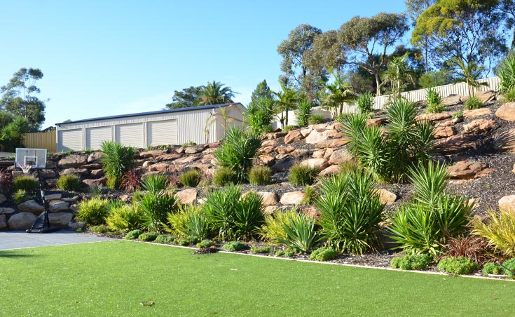 garden landscaping ideas for sloping gardens adelaide sloping garden ideas photos - Garden Ideas Adelaide