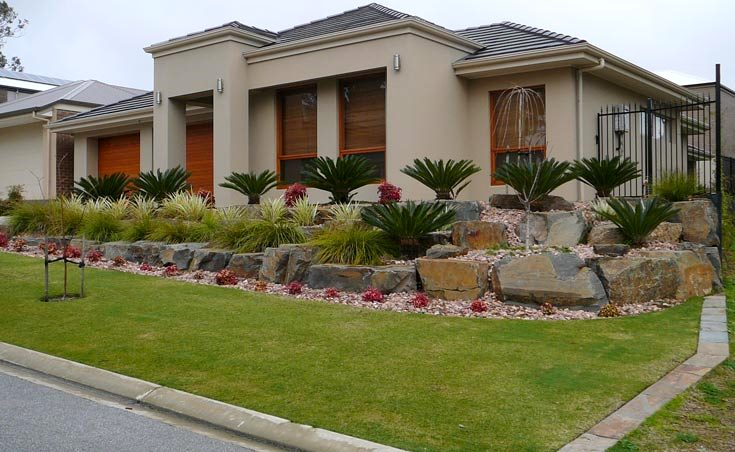 garden landscaping ideas for sloping gardens adelaide - Garden Ideas Adelaide