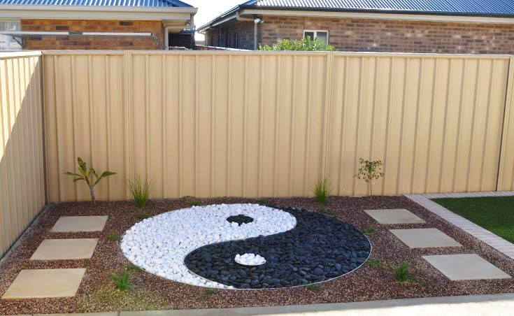 garden design using river pebbles - Garden Ideas Adelaide