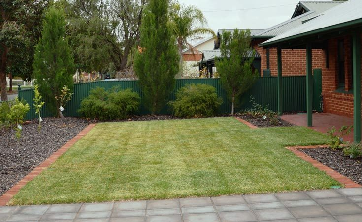Front yard garden landscaping colonel light gardens sa - Front garden ideas western australia ...