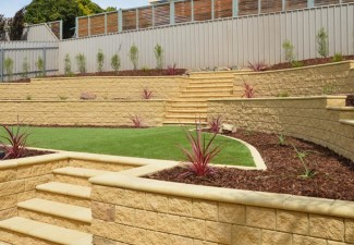 Garden landscaping ideas for sloping gardens adelaide for Retaining wall contractors adelaide