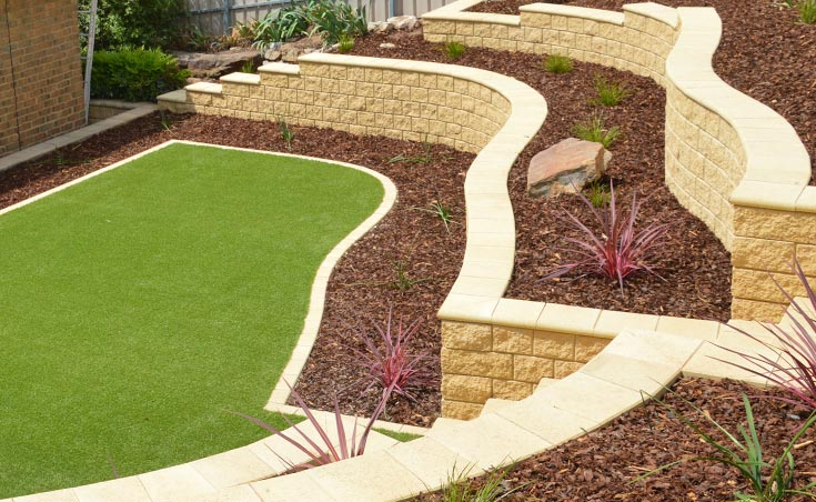 curved retaining walls - Retaining Wall Design Examples