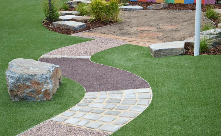 Child care centre landscaping adelaide for Garden edging adelaide