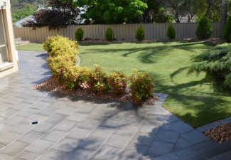 Paving around pools using concrete brick stone pavers for Landscaping rocks adelaide