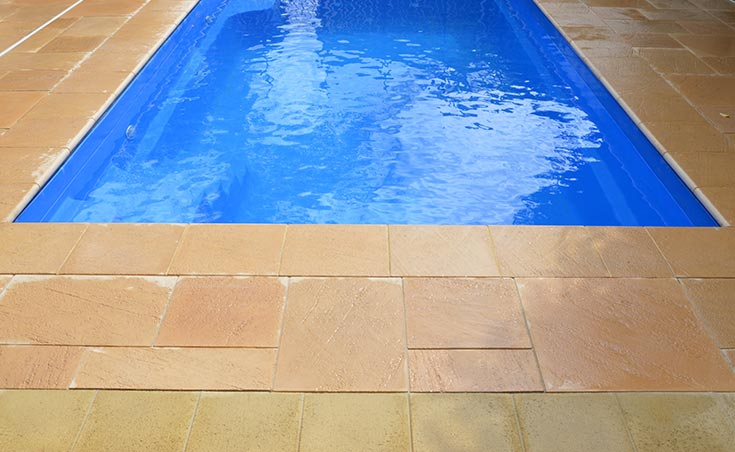 Pool landscaping adelaide 39 s suburb of glengowrie backyard for Paver installation adelaide