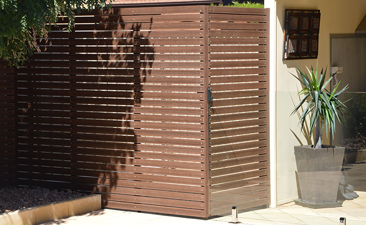 Composite Timber Slat Screens & Gate